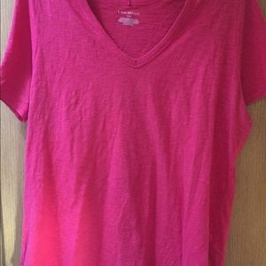 Lane Bryant hot pink cold shoulder 14/16 tunic T